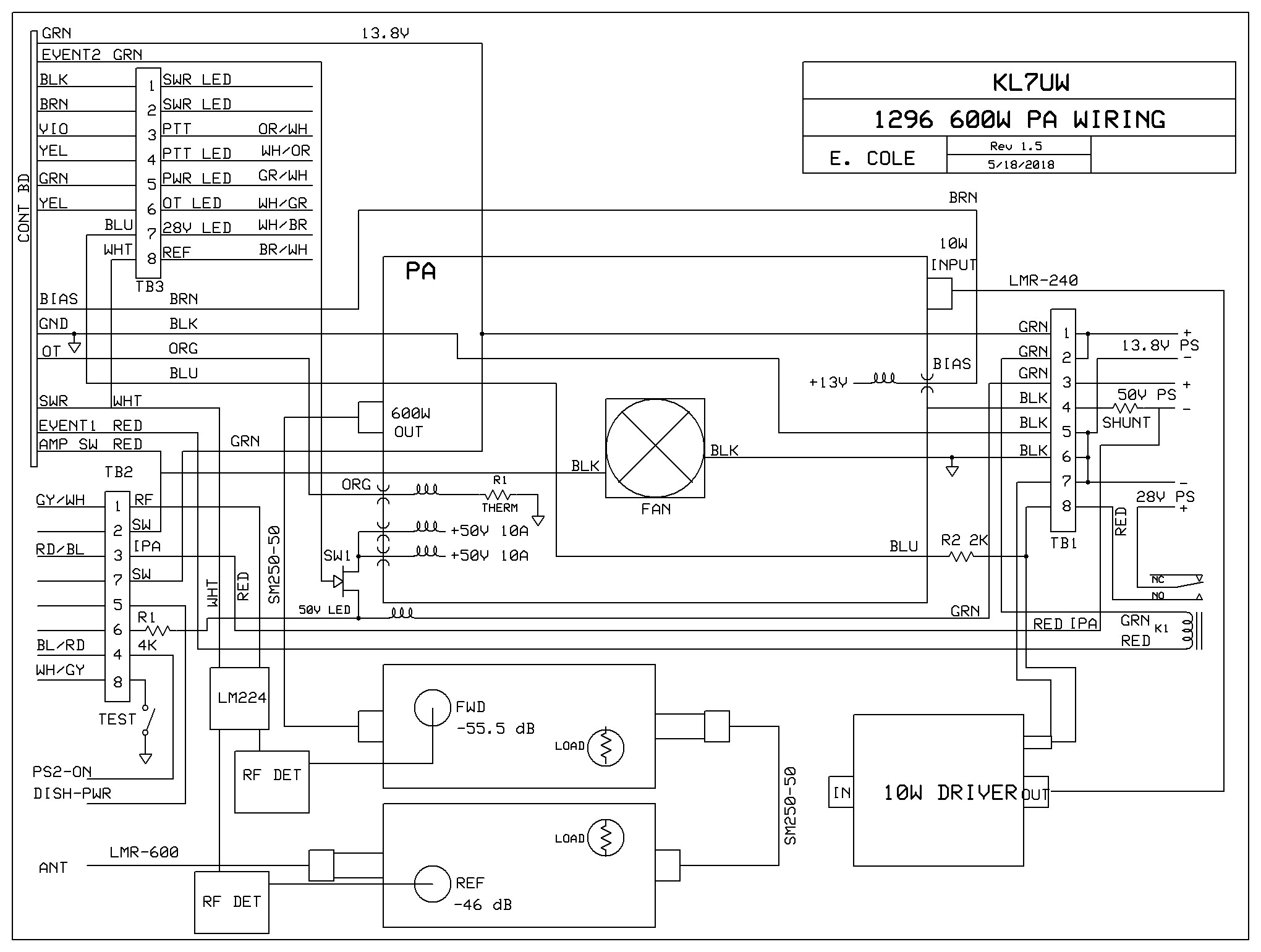 1296 Mhz 600w Amp Ham Shack Wiring Diagrams More Info To Be Displayed Return Home Page