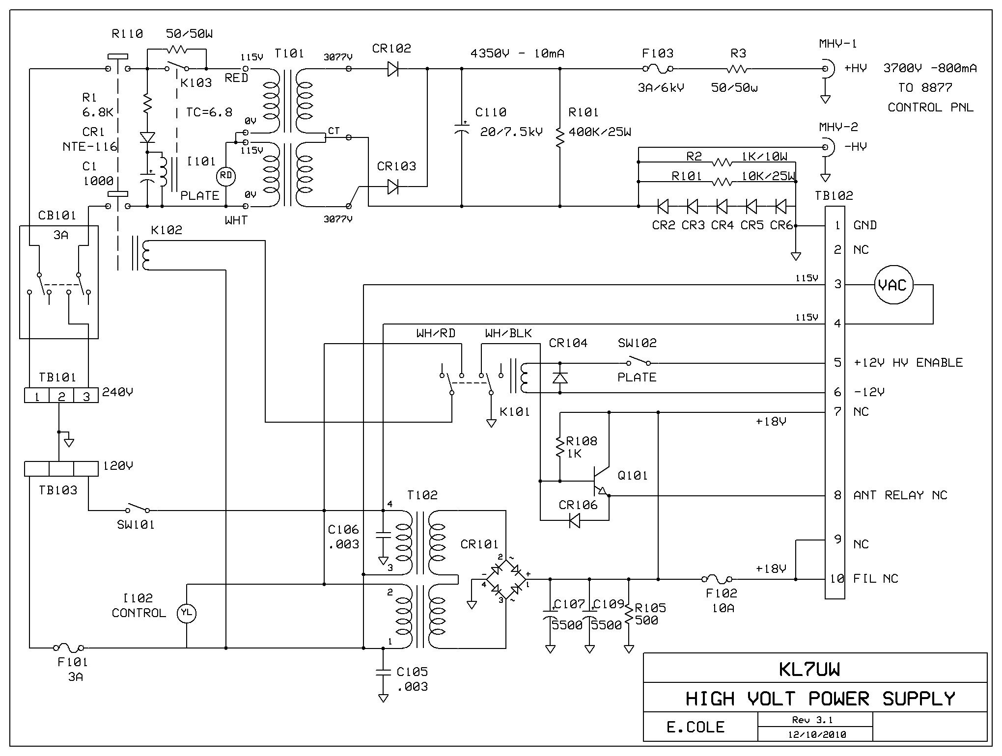 Kl7uw 8877 Amplifier Page Control Panel Wiring Diagram Get Free Image About Schematic View