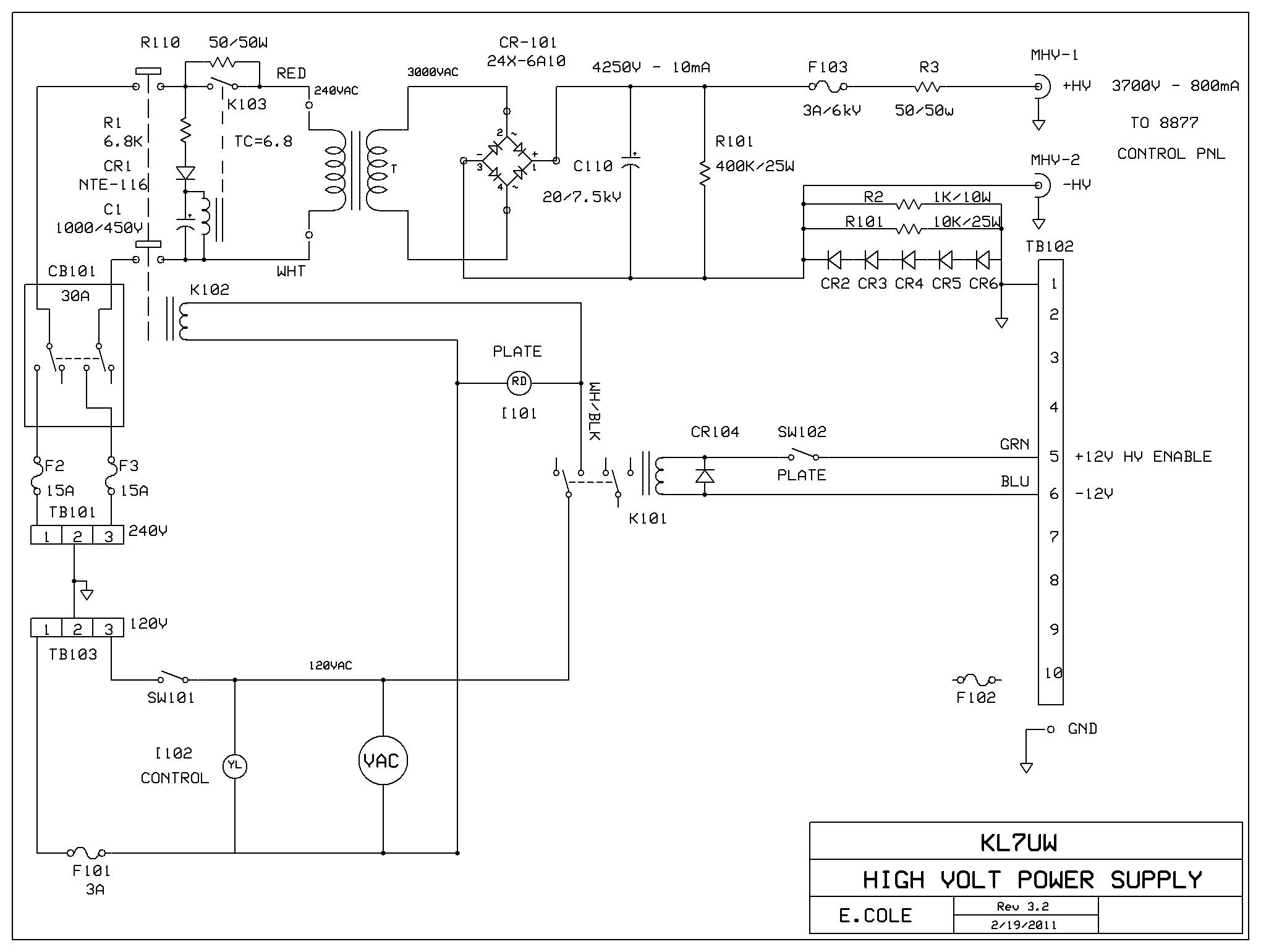 Kl7uw 8877 Amplifier Page How To Make A 25 Amp 1500 Watts Heater Controller Circuit Diagram Qrt