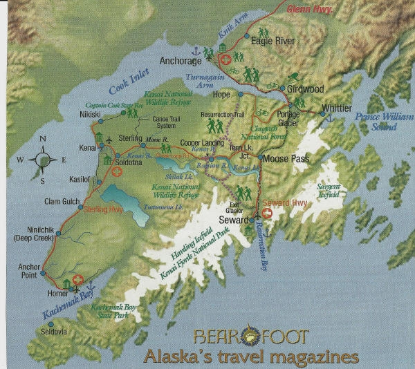 Map Of The Kenai Peninsula And Homer Alaska Pictures To